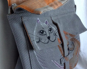 Bag- backpack handmade.
