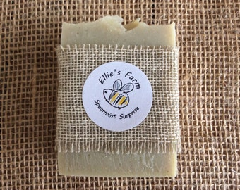 Handmade Natural Soap, Spearmint Soap, Natural Soap, Soap, UK, All-natural Soap, Gift, Gentle Soap, Mint Soap, Artisan Soap, Soap Bar, Soap