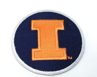Illinois Fighting Illini embroidered iron on patch * 2 sizes to choose from