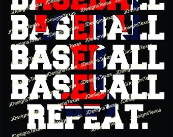 Baseball Repeat-Texas Rangers SVG
