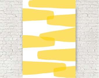 Large Yellow Abstract Poster 24x36 Digital Art Print Yellow Living room decor dining room decor office art  modern art instant download