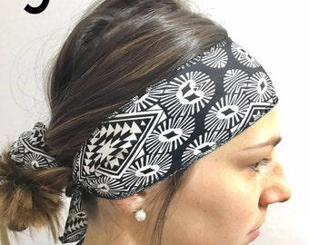 SALE * headband black and white diamond