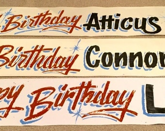 Custom Paper Banners. Special handmade banners made for any occation