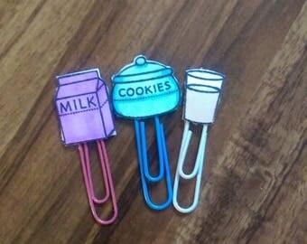 Milk and Cookies paper clip set