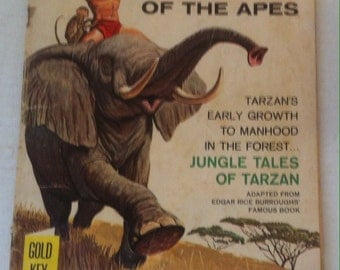 Vintage 1967 Comic Book, Tarzan of the Apes, Gold Key, Collector's Edition, Edgar Rice Burroughs, Tarzan's Early Growth to Manhood, Jungle