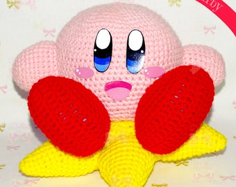 Handmade Amigurumi Kirby (Kirby's Dream Land)