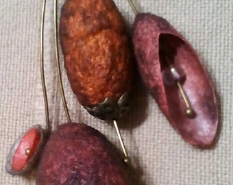 Silk cocoons necklace