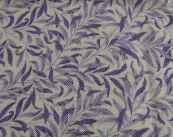 cotton fabric for patchwork white with purple