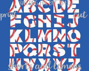 Baseball Alphabet SVG, Baseball Font svg, baseball svg, Baseball Vector, Baseball Mom SVG, Baseball Dad SVG, Baseball Download, printable