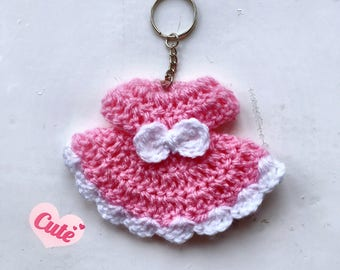 Mini girl dress keychain