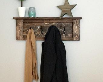 Fennec Series- Wood Wall Mounted Coat Rack, Wall Mounted Coat Rack, Coat Rack, Wall Hooks, Entryway Coat Hooks, Coat Rack Hooks, Hooks