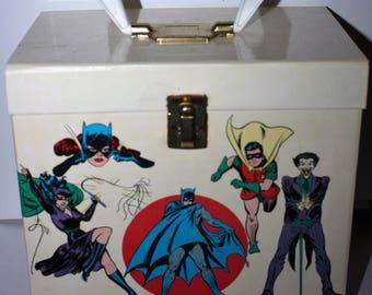 1976 Rare Super Heroes Supercase Record Case with Batman Superman