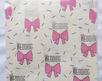 Retro | Pink & Silver | Wedding | Wrapping Paper