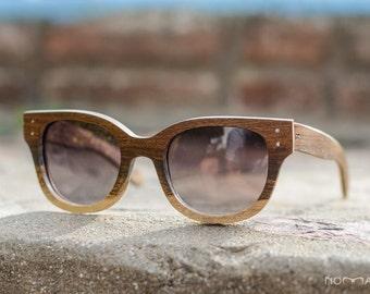Wood sunglasses, brown sunglasses model Lombok, Womens sunglasses, Polarized lenses, Customizable