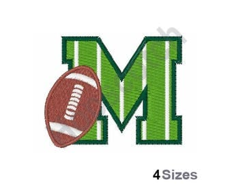 Football Field M Embroidery Design
