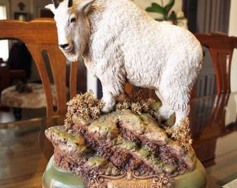 Vintage Mountain Goat Sculpture (limited edition) by Frank Dougherty 1988 – signed by Artist