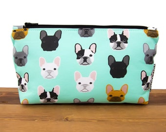 French Bulldog - Frenchie - Make Up Bag - Cute Makeup Bag - Dog Lover - Gift for Teen - Makeup Organizer - Cosmetic Bag - Makeup Storage #48