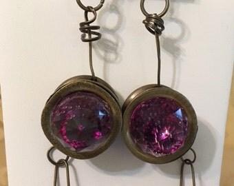 Acrylic Plated Earrings- Trendy!