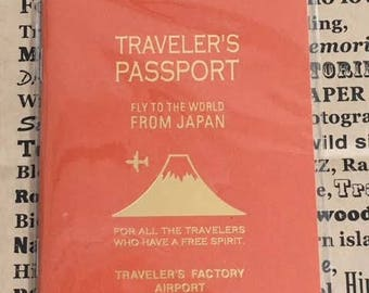 Traveler's Notebook Airport Edition Narita Limited Refill Passport size 64pages 07100-337 Made in Japan Gift Free shipping Best Buy Rare