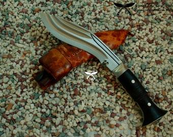 6 Inch 3 chira (Fuller) Full Tang world war II - Gurkha Khukuri/ kukri knife knives- Nepal , Handforged, Gorkha Zone Khukuri House (GZKH)