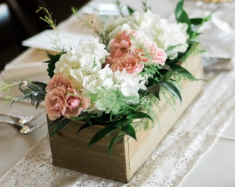 Wooden box used for decor or weddings