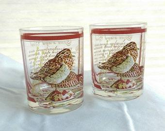 Vintage Georges Briard Glasses Signed  - Mid Century Barware - Vintage Barware - Vintage Lowball Glass
