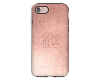 Monogram iPhone 7 case, rose gold  iPhone 7 Plus case, iPhone 6s/6s Plus/6/6 Plus/5s/5/SE cases, iphone cases for girls, monogram case