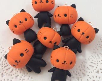 Pumpkin Cat Phone Charm/strap