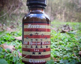 Freedom Chasers Organic & Natural Beard Oil III Percent Edition 1 oz Bottle