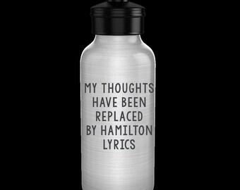Hamilton Water Bottle - Hamilton the Musical Water Bottle