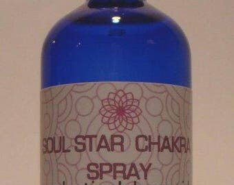 SOUL STAR CHAKRA Spray Organic Aromatherapy Spray Essential Oil Spray Chakra Balancing Aura Spray Room Spray Chakra Mist Meditation Spray