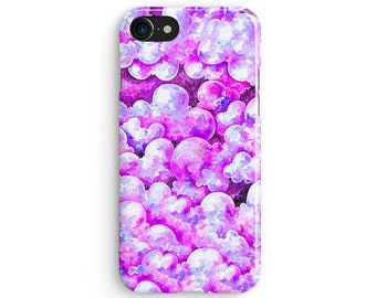 Abstract purple clouds - iPhone 7 case, Samsung Galaxy S7 case, iPhone 6, iPhone 7 plus, iPhone SE, iPhone 5S, 1C068B