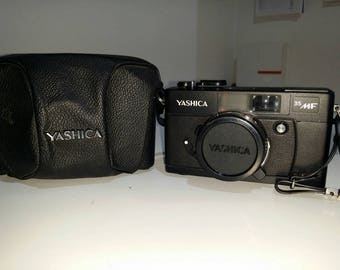 Yashica 35 MF with original camera case and strap