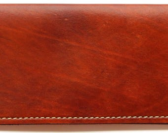 Leather checkbook cover, check book cover