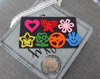 10 x  Colourful Wooden Charms Various Design