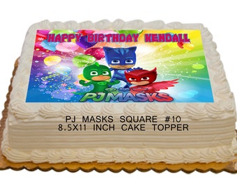 PJ Masks Personalized Edible 8.5x11 inch Birthday Cake topper