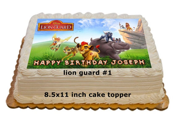 Personalized Lion Guard Edible Cake Toppers 85x11 inch cake