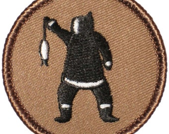 Eskimo Patch (289) 2 Inch Diameter Embroidered Patch