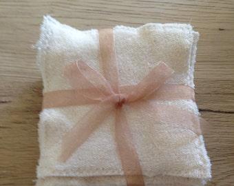 Wipes washable cotton organic x 10