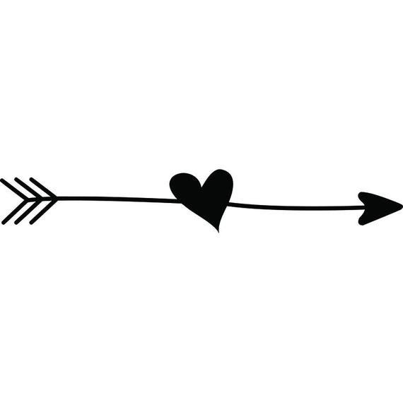 Drawing Lines With Arrows In Photo : Arrow heart love ding doodle line break cute svg eps