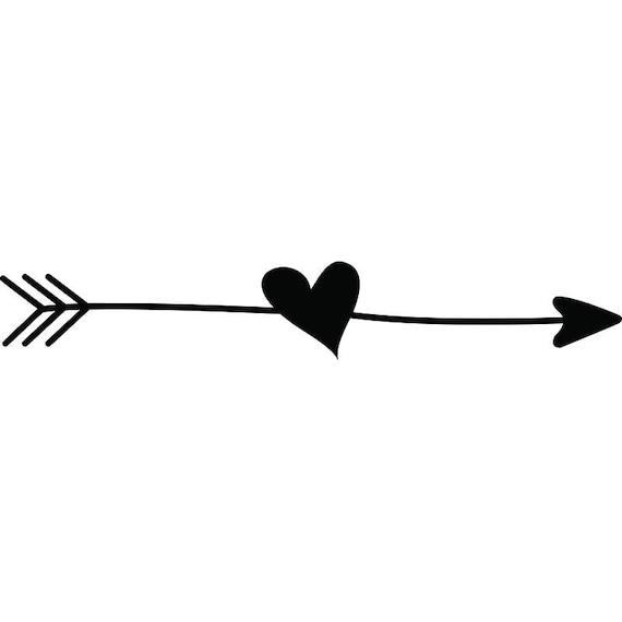 arrow heart love ding doodle line break cute svg eps png. Black Bedroom Furniture Sets. Home Design Ideas