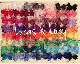 Mix & Match--8 inch Girls Hair Bows, Baby Bows, Toddler Hair Bows, Boutique Bows, Big Bows