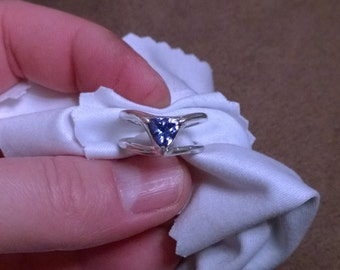 One of a kind Sterling silver Tanzanite ring
