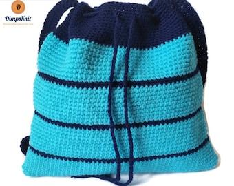 Shades of Blue Crochet Bag