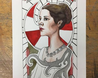 Princess Leia painting