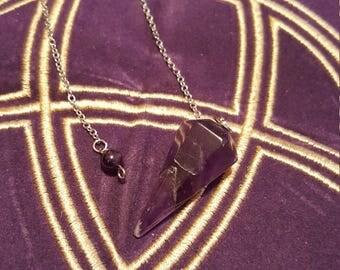 Amethyst Pendulum, Gemstone