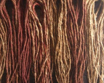 60 Double ended natural colour synthetic dreads | Blonde dreads | Reddish brown dreads | Dark brown dreads