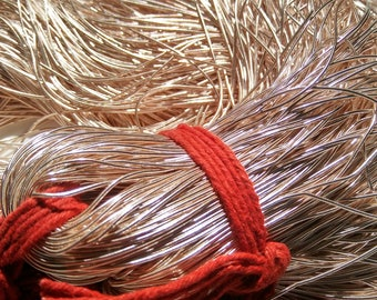 ROSE GOLD Metallic French Wire, Bullion Wire, Gimp Wire 50/100/200/400 Grams Embroidery material