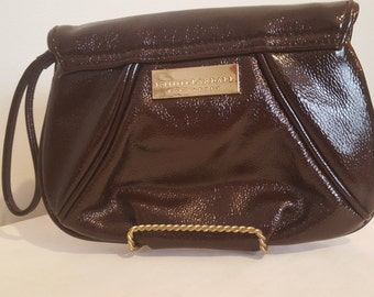 ON SALE, Brown leather wallet, leather clutch, small purse, Loeffler Randall, Loefflet for Target, vintage clutch, vintage wallet, leather