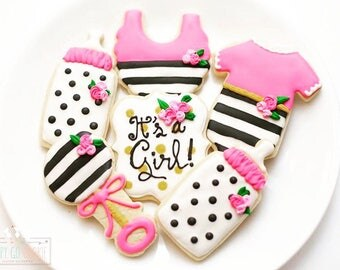 kate spade baby shower sugar cookies girl cute sweet